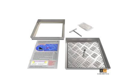 Съемный напольный люк (серия ЛН) 600Х600